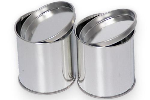 Blechdose für Restfarbe Weißblechdosen mit Eindrückdeckel 250 ml 500 ml