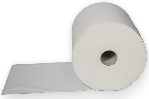 Putztuch Zellstoff Weiß 37 x 38 cm  4 – lagig 1 Rolle 370m/1000 Abrisse