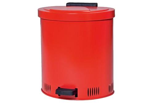 Sicherheits-Entsorgungsbehälter zum Sammeln von  mit Lösemittel  getränkten  Putzmaterialien